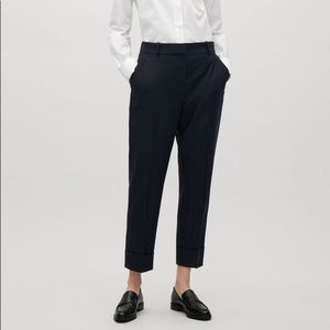 COS Navy Cropped Trousers